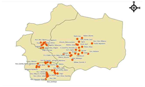 Location of Light Libraries in Kaolack and Kaffrine, Senegal