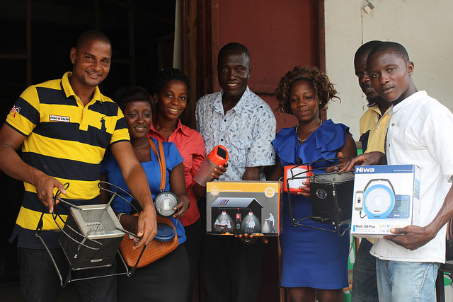 Distributors under the Lighting Lives in Liberia program.