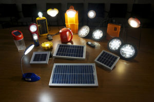 A selection of products being tested against Lighting Global Quality Standards